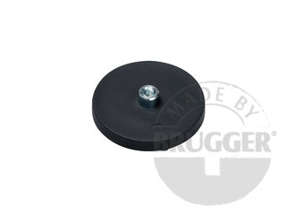 Magnet assembly, NdFeB, rubber coated with Ø 18 mm