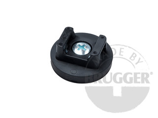 Magnet assembly of NdFeB, rubber coat black, for cable mounting