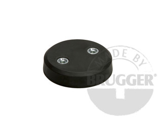 Magnet assembly, NdFeB, rubber coat, with 2 internal thread